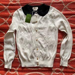 Kate Spade  Cardigan Sweater Peter Pan Collar